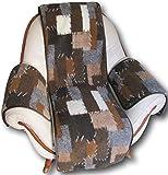 Alpenwolle Sesselschoner Sessel- und Armlehnenschoner Patchwork 3 Teilig