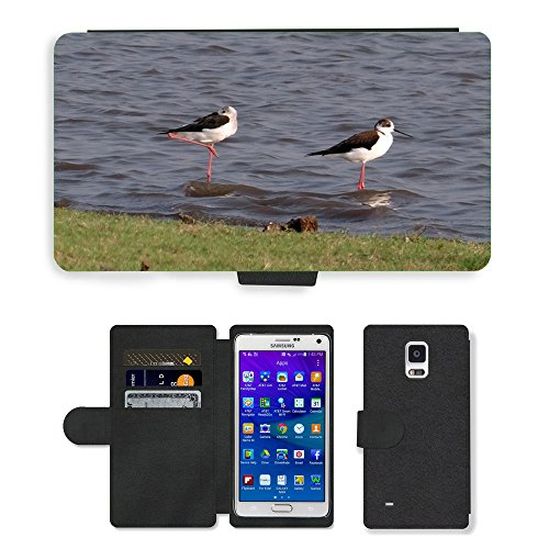hello-mobile PU LEDER LEATHER FLIP CASE COVER HÜLLE ETUI TASCHE SCHALE // M00137338 Stelzenläufer Gemeinsamen Stelzenläufer // Samsung Galaxy Note 4 IV