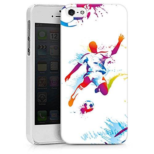 Apple iPhone 6s Plus Silikon Hülle Case Schutzhülle Fußball Sport Stürmer Hard Case weiß