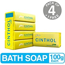 Cinthol Lime Soap, 100g (Pack of 4) with 100g Free