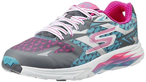skechers GO RUN RIDE 5 - Zapatillas de deporte para mujer, color gris, talla  39