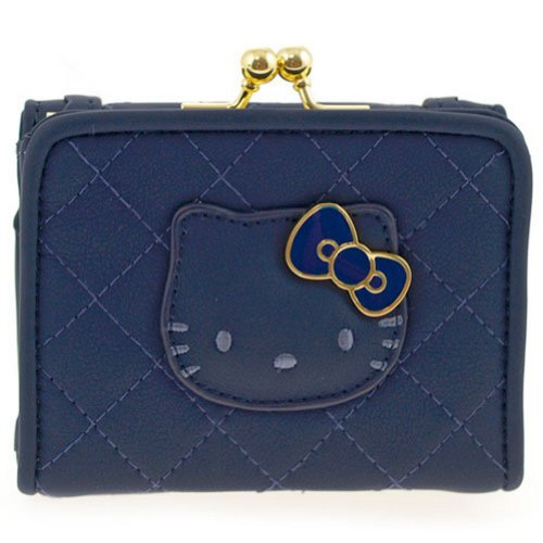 Petit porte monnaie matelassé Hello Kitty Bleu camomilla