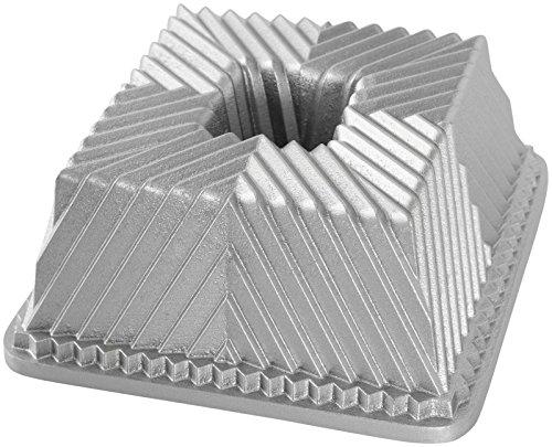 """'Nordic Ware Molde """"cuadrado, aluminio, plata, 13,8x 13,8x 9,2cm), 1unidad"""