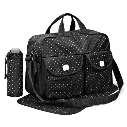Black 3pcs Baby Diaper Nappy Changing Bag Set D:STAR