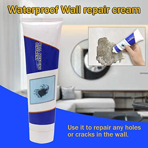 95sCloud 100ML Wandspachtelmasse Wandreparaturmittel, Wall Mending Agent Repair Cream, Wandreparaturcreme weiße Latexfarbe Wand Reparatur Creme, Repair Paste Mehltaubeständiges Reparaturpaste