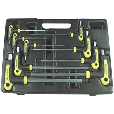 Astro 1026 Metric T-4 Handle Ball Point and Hex Key Wrench Set 9 PC.