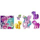 My Little Pony - Prinzessin CELESTIA, TWILIGHT SPARKLE, SPIKE DRACHE, PINKIE PIE & APPLEJACK - Kristall Königreich / Crystal Empire - Hasbro