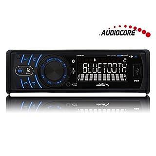 Audiocore AC9800 Car Radio Headunit Bluetooth Handsfree Blue Android iOS MP3 WMA