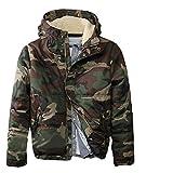 UFODB Herren Armeejacke Regiment Jacke Camouflage übergangsjacke Mode Dicker Warm Winterparka Softshelljacke Protektorenjacke Outdoorjacke Militärjacke