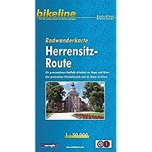 bikeline - Radkarte Herrensitz-Route (Maas-Niers) 1:50 000 + Begleitheft mit 24 Seiten (Deutsch-Niederländisch), wasserfest und reißfest, GPS-tauglich mit UTM-Netz