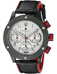 Charles-Hubert, Paris Men's 3979-D Premium Collection Analog Display Japanese Quartz Black Watch