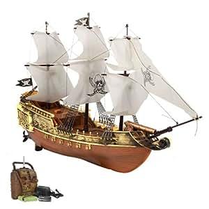 RC ferngesteuertes Piratenschiff inkl. Akku, Ladegerät und