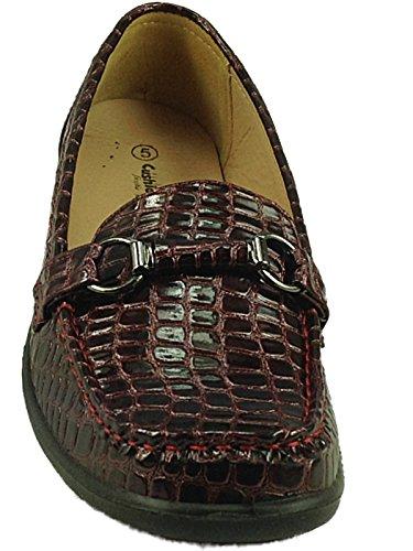 Cushion Walk , Damen Slipper burgunderfarben