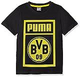 PUMA Kinder BVB Shoe Tag Tee Jr T-Shirt, Dark Gray Heather, 128