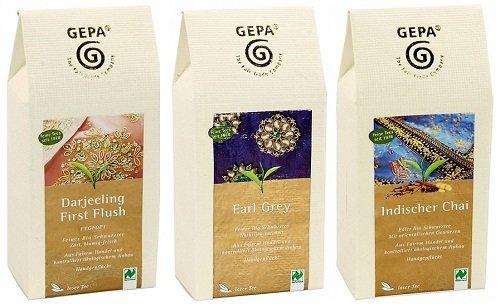 GEPA Tee (Lose) Variationen - 3 x 100g unterschiedliche Bio Teesorten Lose