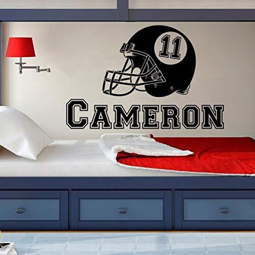 American Football Helmet Vinyl Wall Stickers Kids Teens Boys Room Sports Decor Decal Nursery Playroom 58x89cm