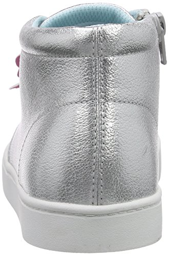 Clarks Kids Pattiefizz Jnr, Baskets Basses fille Argent (Silver Leather)