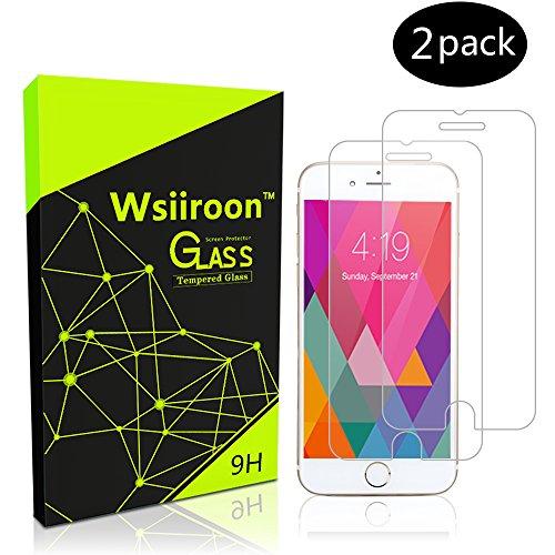 Schutzfolie für iPhone 6 6S, [2 Stück] Wsiiroon Panzerglas mit 3D Touch Kompatibel-0.33mm, 4.7 Zoll, 9H Härte, 2.5D Kanten, 99% Transparente Displayschutzfolie für iPhone 6 6S (Iphone Klarer 6 Fall)