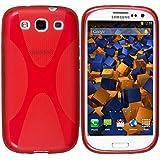 mumbi X-TPU Skin Case Samsung Galaxy S3 i9300 / S3 Neo Silikon Tasche Hülle - Silicon Protector Schutzhülle halbtransparent rot