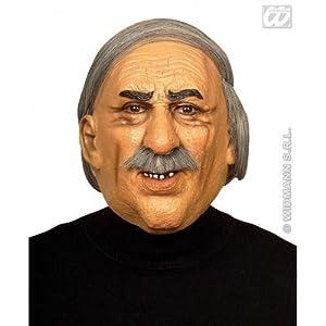 WIDMANN Máscara de viejo Wil con pelo y bigote adulto Cualquier día