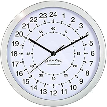 Backwards Clock: Amazon co uk: Kitchen & Home