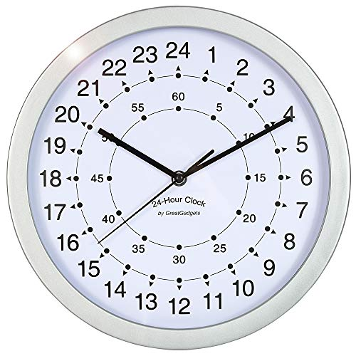 "GreatGadgets 1858 ""24-Stunden Uhr"""