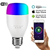 AUTOOL 2 PCS Wifi Led ampoules Wallfire 6W E27 WiFi Télécommande par Smartphone IOS Android Smart Ampoule Lampe Lumière Pour Echo Alexa 60W Equivalent Wifi Smart Ampoule