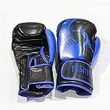 Guantoni da boxe unisex Guanti da allenamento Guantoni da boxe Fight Muay Thai (Color : Blue, Size : 8oz)