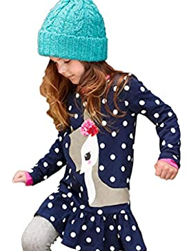 [Patrocinado]Vestidos para niñas, Dragon868 Moda nuevas niñas bebé otoño larga manga vestidos de ciervo