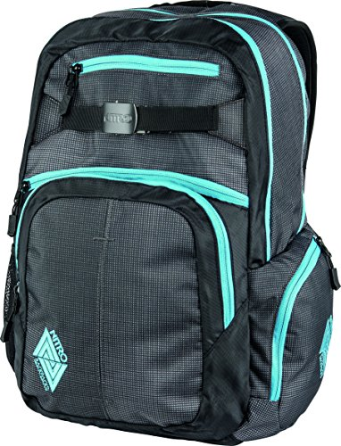 Nitro Snowboards Rucksack Hero Pack, Colore Nero (Black), Dimensioni: 23 x 38 x 52 cm, 37 Liter Multicolore (Blur-Blue Trims)