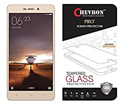 Chevron HD Clear Tempered Glass Screen Protector For Redmi 3S Prime, Fit 99.9% Touch Accurate, 0.3mm