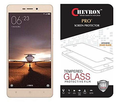 Chevron Premium Tempered Glass Screen Protector Skin Cover for Redmi 3S Prime  available at amazon for Rs.99