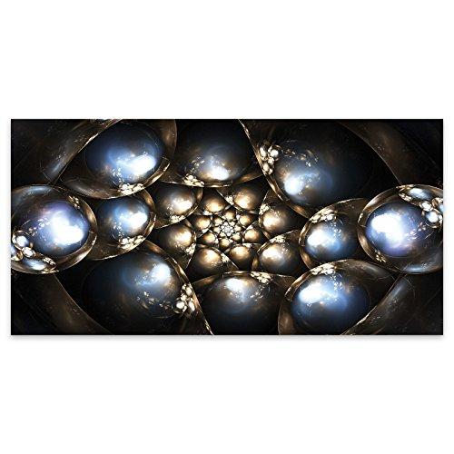 Perlen Kugeln moderne Abstrakte Acryl Glas Wand Kunst -120cm x 60cm