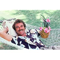 Magnum P.I. Tom Selleck In Hammock With Cocktail 24X36 Poster