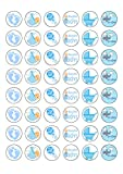 48 Edible Wafer Paper Gorgeous Baby Boy Shower Cake Toppers Decorations by Top That