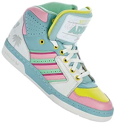 Adidas originals jeremy scott license plate miami chaussures mode unisexe bleu vert rose Adidas T:44 2/3