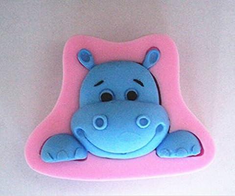 LC Hippo Head X1138 Silicone Fondant Mould Cake Mold Chocolate