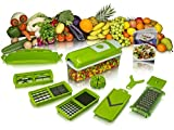 #4: Kitchen Dicer & Vegetable Cutter 9 Piece Set (Green) New Arrival Best Selling Premium Quality Lowest Price Multifunctional Chopping Device Safest Chopper Fastest Grater Dicer Durable, Portable, Washable, Long Lasting, Useful, Convenient Way to Chop, Dice, Slice, Shred, Grate Fruit & Vegetables like Onions, Potatoes, Carrots, Cucumber, Zucchini, Cabbage & Peepers, No Hassle, No Mess, Large Container to Store Vegetables, Stainless Steel Blades, Easy to Use & Clean, Excellent Kitchen Aid Tool