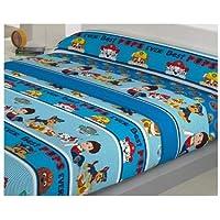Juego de sabanas Infantil de Invierno CORALINA Patrulla Canina Azul Cama de 90 x 190/