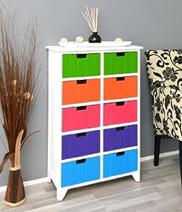 kommode in wei schrank flur bad k chen kinderzimmer regal. Black Bedroom Furniture Sets. Home Design Ideas