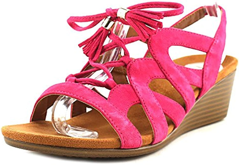 donna Park Kalie Sandalo con con con zeppa rosa Dimensione 6.5   Pratico Ed Economico  691ca9