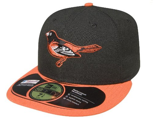 MLB Baltimore Orioles Authentic On Field Game 59 Fifty Cap, schwarz/orange Bill, Herren unisex, ACPERF BALORI GM, Black / Orange visor, 7 1/4 (Baltimore Orioles Cap)
