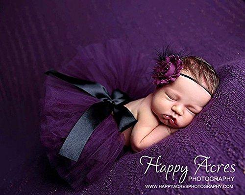 Tukistore Neugeborenes Baby Mädchen Rock Tutu Kleidung Trikot Kostüm Foto Prop Outfits Bekleidung Set mit Haarband;Lila (Lila Tutu Kostüm)