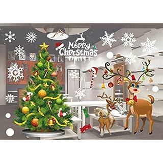 Fenêtre de Noëlautocollant Décoration Fenetre Noël Stickers amovibles Merry Christmas Décorations 55 X 38 cm /21.6 X 15 '' (801)