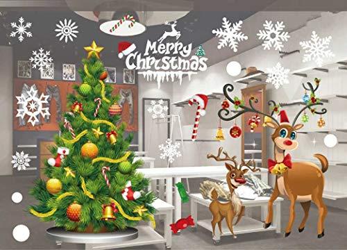 Etiqueta ventana Navidad PVC Pegatinas colores Santa