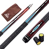 CUESOUL Billiards 58-Inch 19 Oz Canadian Maple Pool Cue Billiard Stick With Joint Protector 11. 5mm Glue On Tip TB04-11. 5mm Tip