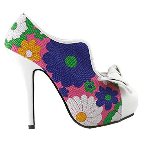 Show Story, Punta chiusa donna Multicolore (Floral-White)