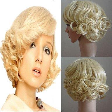 ON Gelockt Perücke Cosplay Haar Volle Perücken Kurz blond Holloween Partei Frisur natürlich Perücke hitzebeständig (Die Holloween)