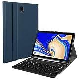 Fintie Bluetooth Tastatur Hülle für Samsung Galaxy Tab S4 10.5 T830 / T835 - Ultradünn leicht Schutzhülle Keyboard Case mit magnetisch Abnehmbarer Drahtloser Deutscher Bluetooth Tastatur, Marineblau