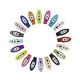 Frcolor 20pcs 2 pollici Grosgrain Ribbon antiscivolo clip di capelli avvolti mollette automatici per ragazze per i più piccoli bimbi